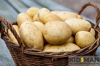 корзинка с картофилем