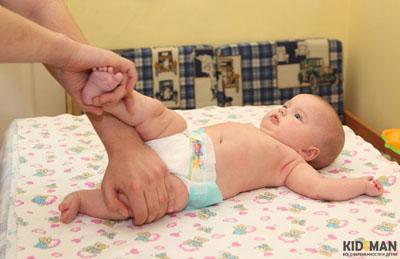 укреплять мышцы ребенку для переворота