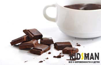 кружка с горячим шоколадом