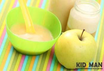 яблоко и пюре из яблока