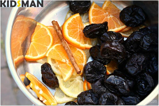 чернослив апельсины и кариса